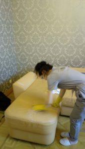 Чистка кожаной мягкой мебели